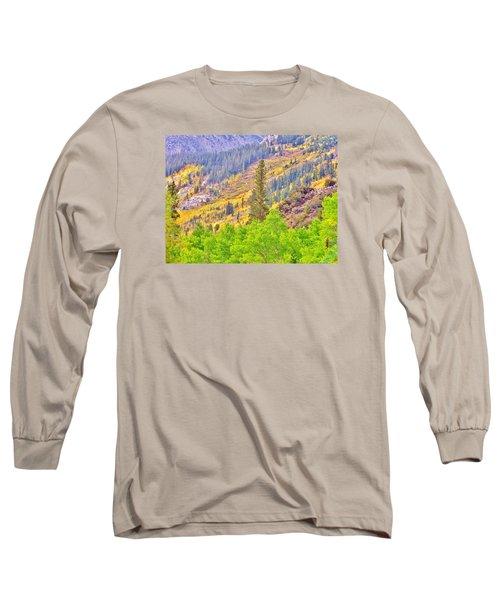 High Sierra Fall Colors Long Sleeve T-Shirt by Marilyn Diaz