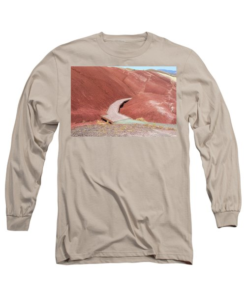Hiking Loop Boardwalk At Painted Hills Cove Long Sleeve T-Shirt