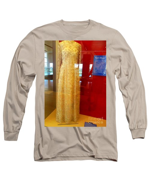 Hillary Clinton State Dinner Gown Long Sleeve T-Shirt by Randall Weidner