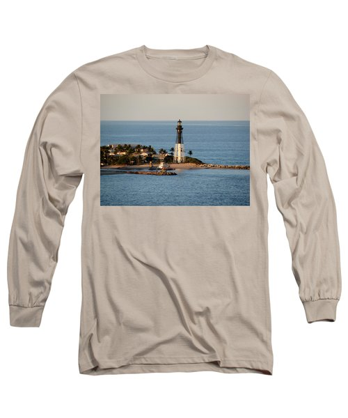 Hillsboro Lighthouse In Florida Long Sleeve T-Shirt