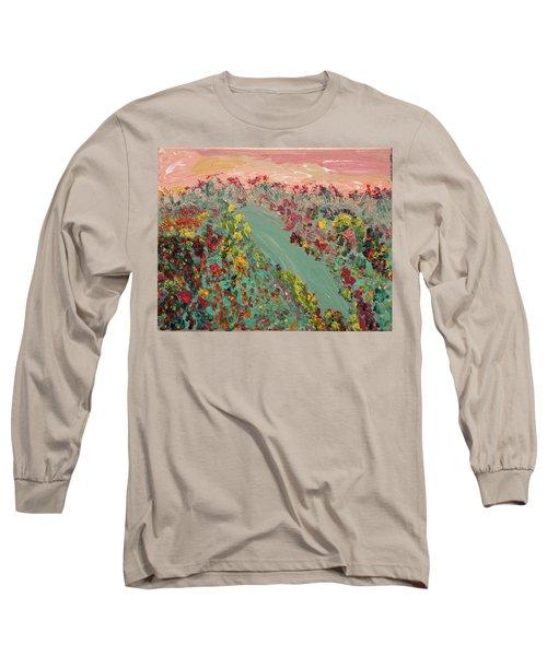 Hillside Flowers Long Sleeve T-Shirt