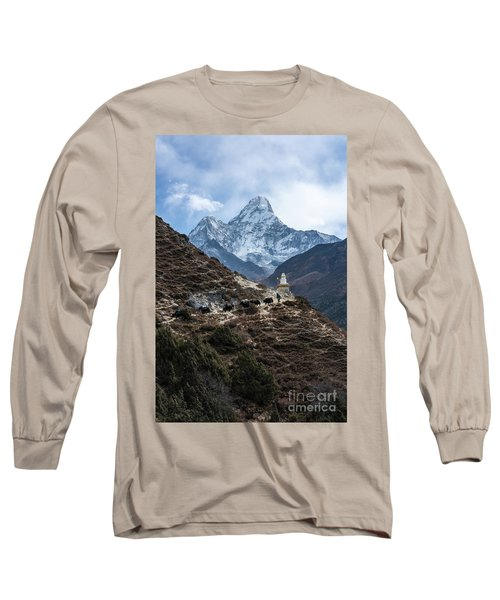 Long Sleeve T-Shirt featuring the photograph Himalayan Yak Train by Mike Reid