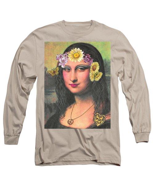 Hippie Gioconda Long Sleeve T-Shirt