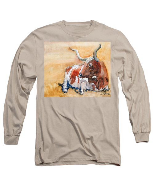 Long Sleeve T-Shirt featuring the painting His Majesty by Ron Stephens