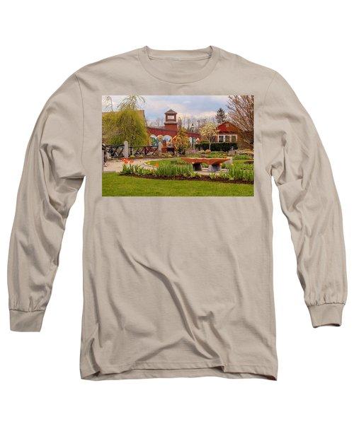 Historic Rail Station, Manhan Rail Trail Easthampton Long Sleeve T-Shirt