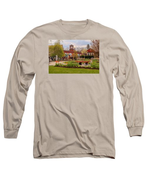 Historic Rail Station, Manhan Rail Trail Easthampton Long Sleeve T-Shirt