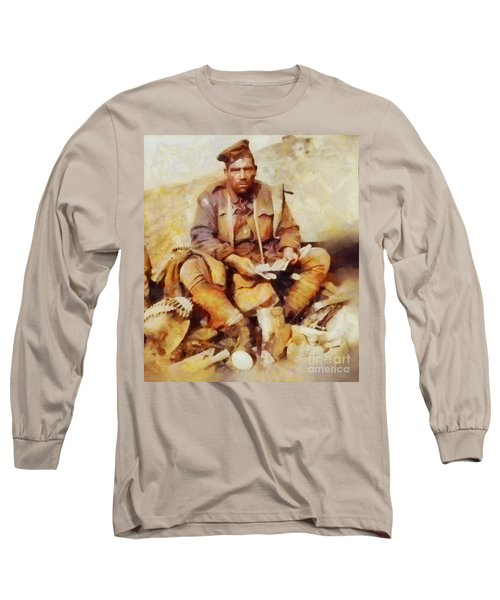 History In Color. Australian Soldier Pvt Barney Hines Wwi Long Sleeve T-Shirt