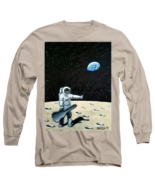 Hitchhiker With Guitar  Long Sleeve T-Shirt