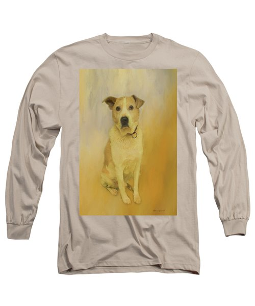 Long Sleeve T-Shirt featuring the photograph Hobbit The Harrier Hound by Bellesouth Studio