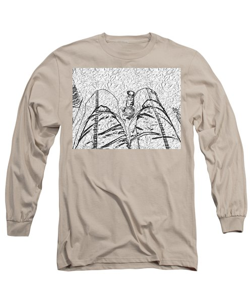 Holding The Beer Long Sleeve T-Shirt