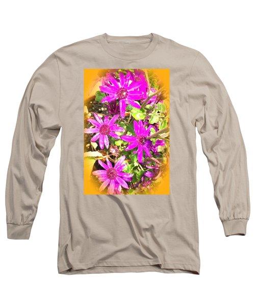 Hollywood Flower Stars Long Sleeve T-Shirt