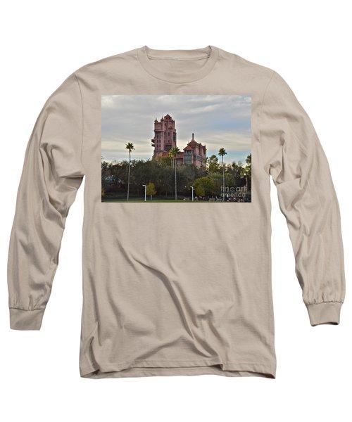 Hollywood Studios Tower Of Terror Long Sleeve T-Shirt by Carol  Bradley