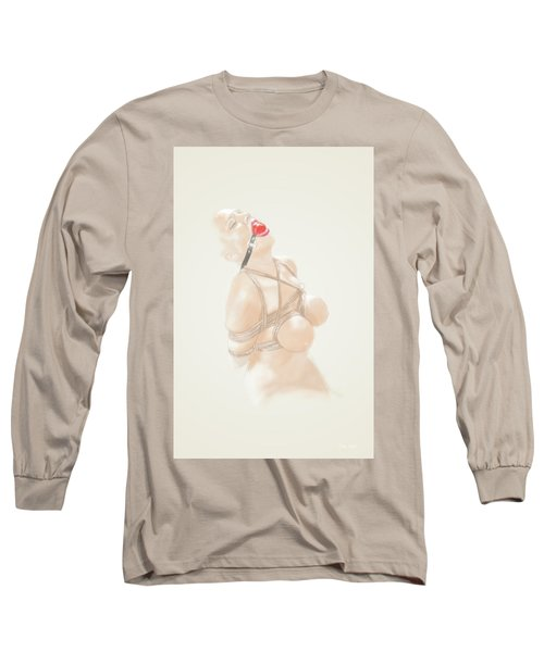 Long Sleeve T-Shirt featuring the mixed media Holy Light by TortureLord Art