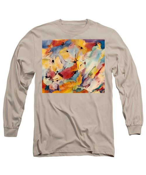 Homage A Kandinsky Long Sleeve T-Shirt by Bernard Goodman