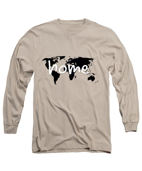 Home 2 Long Sleeve T-Shirt by Paulette B Wright