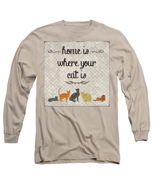 Home Is Where Your Cat Is-jp3040 Long Sleeve T-Shirt