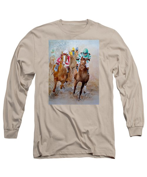 Home Stretch Long Sleeve T-Shirt by Marilyn Zalatan