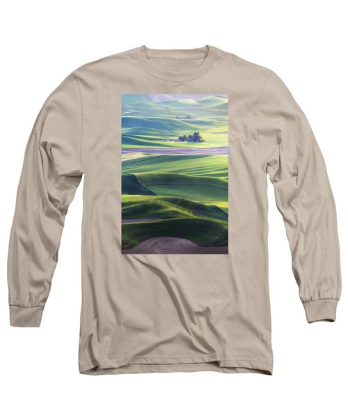 Homestead In The Hills Long Sleeve T-Shirt by Ryan Manuel