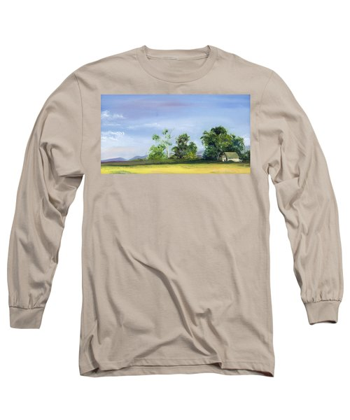 Long Sleeve T-Shirt featuring the painting Homestead by Jane Autry