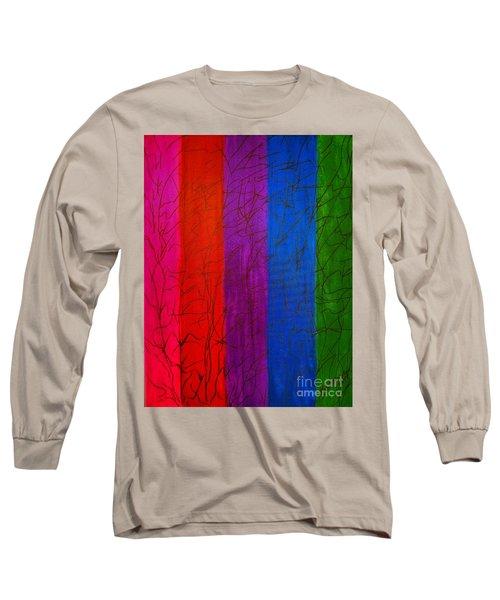 Honor The Rainbow Long Sleeve T-Shirt by Rachel Hannah