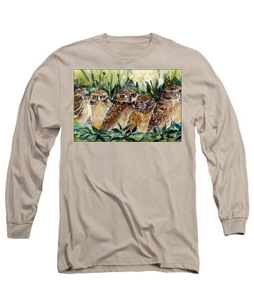 Hoo Is Looking At Me? Long Sleeve T-Shirt by Mindy Newman