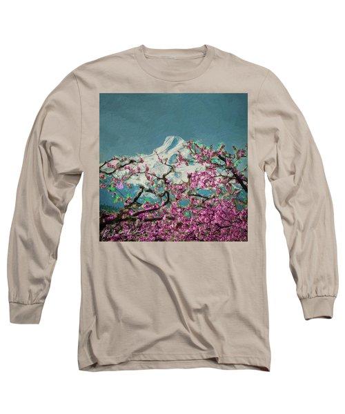 Hood Blossoms Long Sleeve T-Shirt by Dale Stillman