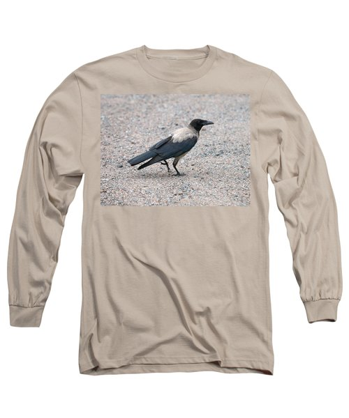 Long Sleeve T-Shirt featuring the photograph Hooded Crow by Jouko Lehto