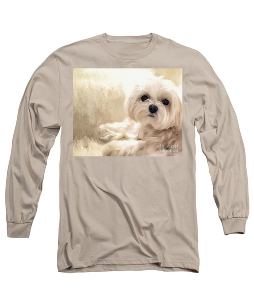 Hoping For A Cookie Long Sleeve T-Shirt by Lois Bryan