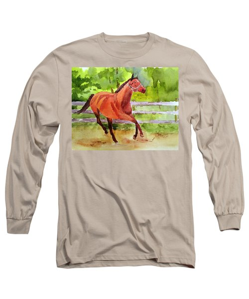Horse #3 Long Sleeve T-Shirt by Larry Hamilton