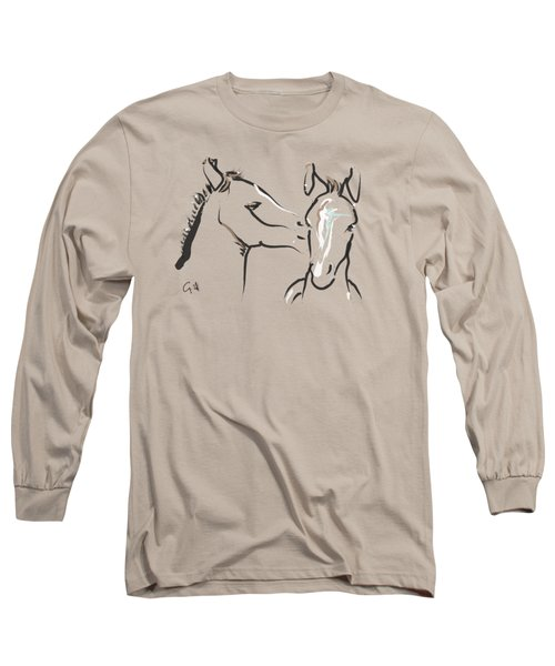 Horse-foals-together 6 Long Sleeve T-Shirt