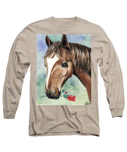 Horse In Love Long Sleeve T-Shirt