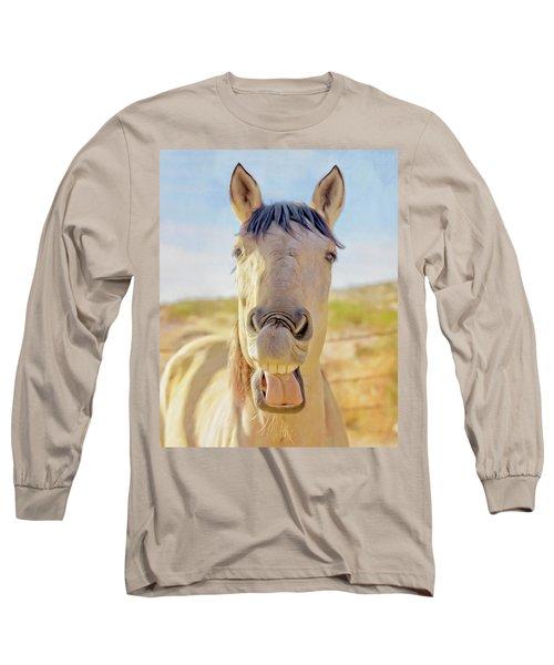 Horse Talk #2  Long Sleeve T-Shirt