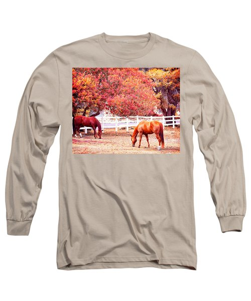 Horses, Grazing Long Sleeve T-Shirt
