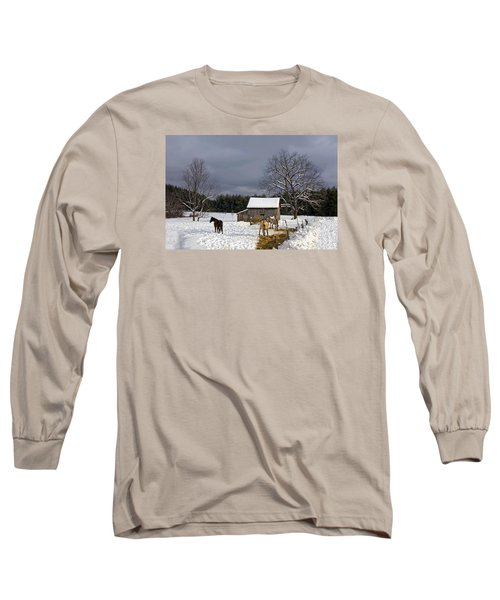 Horses In Snow Long Sleeve T-Shirt