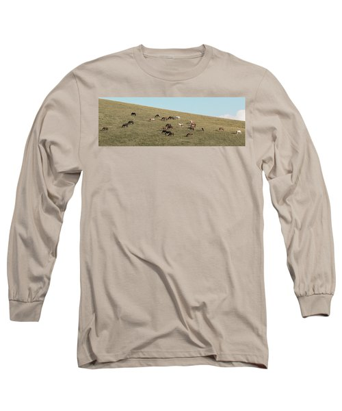 Horses On The Hill Long Sleeve T-Shirt