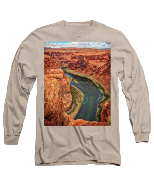 Long Sleeve T-Shirt featuring the photograph Horseshoe Bend Arizona - Colorado River #3 by Jennifer Rondinelli Reilly - Fine Art Photography