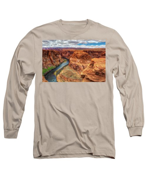 Horseshoe Bend Arizona - Colorado River $4 Long Sleeve T-Shirt by Jennifer Rondinelli Reilly - Fine Art Photography