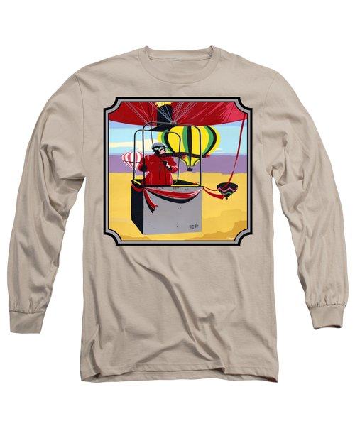 Hot Air Ballooning - Abstract - Pop Art -  Square Format Long Sleeve T-Shirt