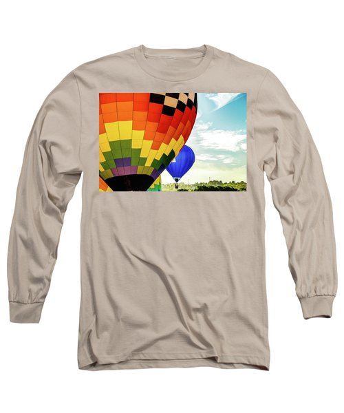 Hot Air Balloons Over Trees Long Sleeve T-Shirt