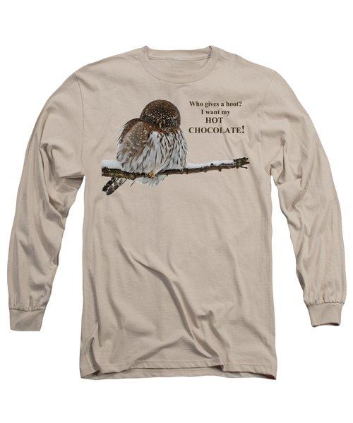 Hot Chocolate Owl Long Sleeve T-Shirt
