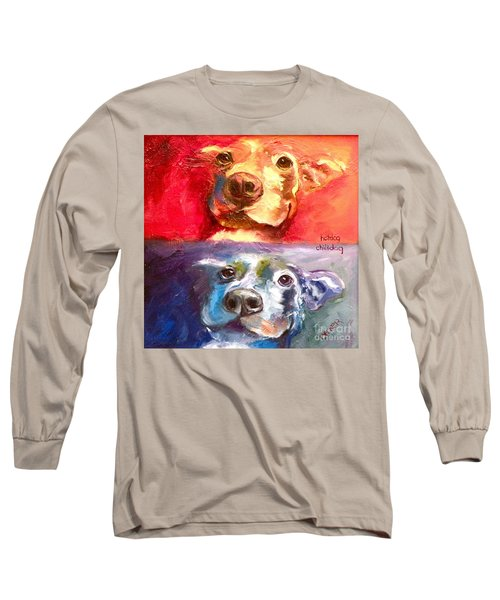 Hot Dog Chilly Dog Study Long Sleeve T-Shirt
