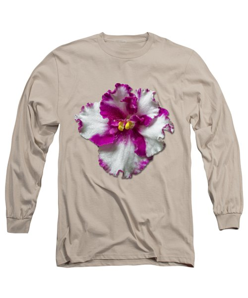 Hot Pink Flower Long Sleeve T-Shirt by Bob Slitzan