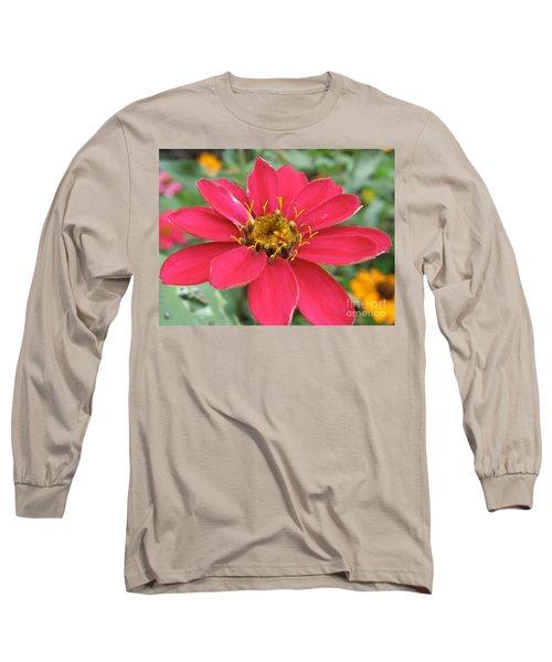 Hot Pink Flower Long Sleeve T-Shirt