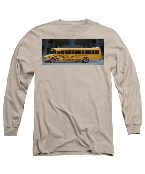 Hot Rod School Bus Long Sleeve T-Shirt