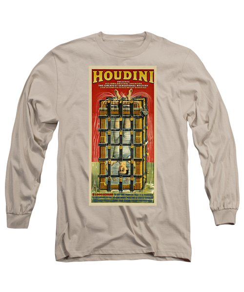 Houdini Advertisement 1916 Long Sleeve T-Shirt by Andrew Fare