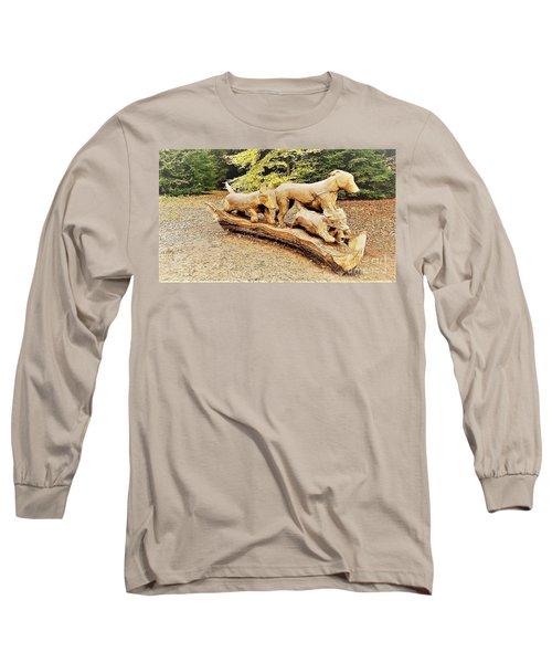 Hounds On The Run Long Sleeve T-Shirt by John Williams