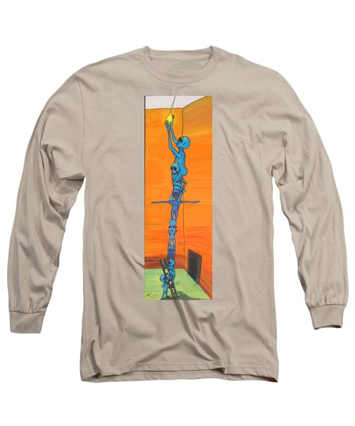 How Many Aliens Does It Take To Screw In A Light Bulb?  Seven. Long Sleeve T-Shirt by Similar Alien