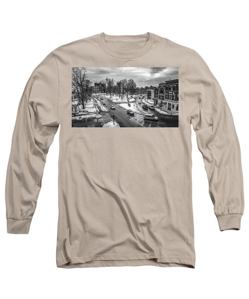 Hudson Falls Business District Long Sleeve T-Shirt