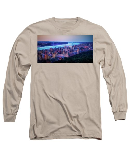 Long Sleeve T-Shirt featuring the photograph Hudson River Sunset by Theodore Jones