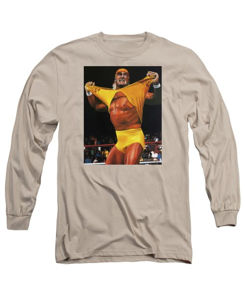 Hulk Hogan Oil On Canvas Long Sleeve T-Shirt